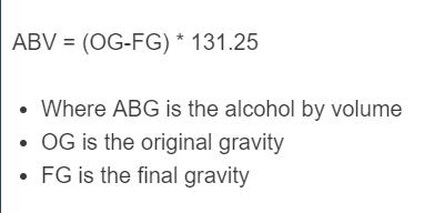 gravity to abv formula