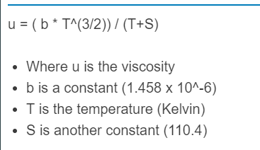 viscosity of air formula