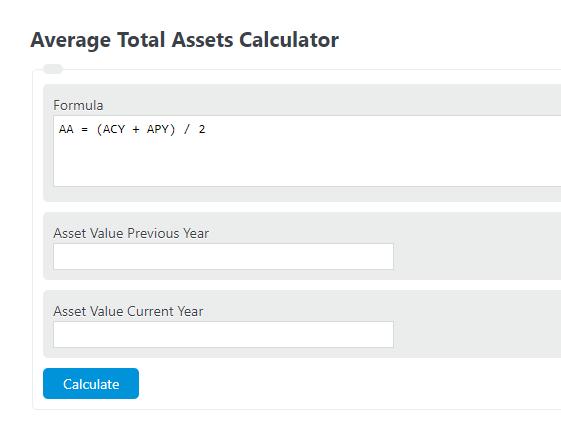 average total assets calculator