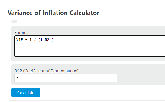 variance of inflation calculator