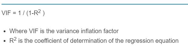 variance of inflation formula