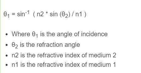 angle of incidence formula