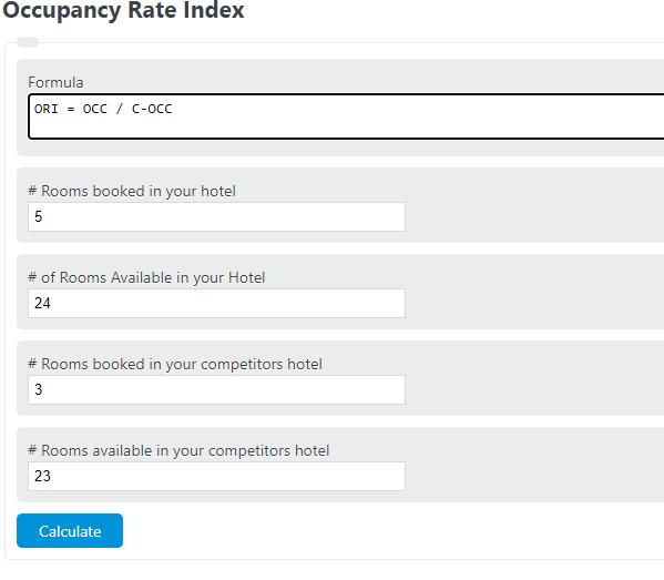 occupancy rate index calculator