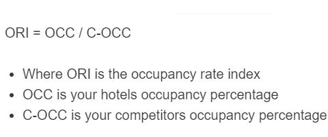 occupancy rate index formula