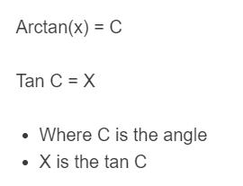 inverse tan formula