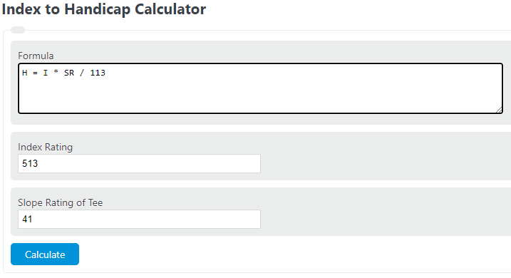 index to handicap calculator