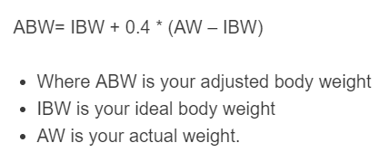adjusted body weight formula