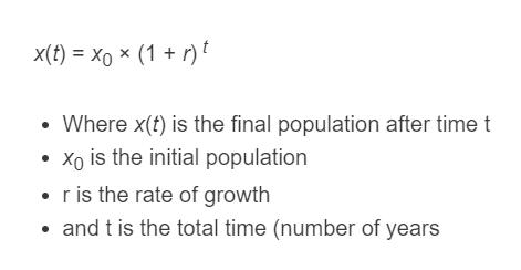 population growth formula