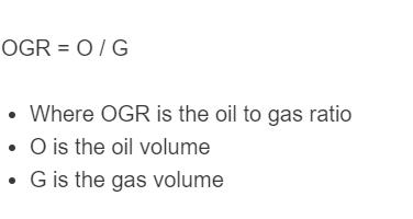 oil to gas ratio formula