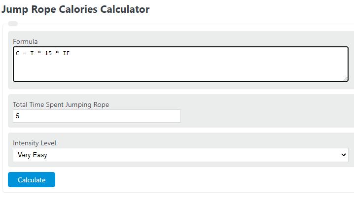 jump rope calories calculator