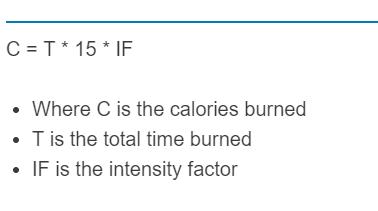 jump rope calories formula