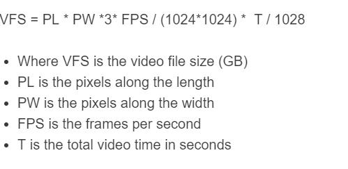 video file size formula