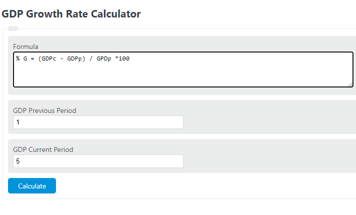 gdp growth rate calculator