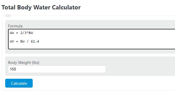 total body water calculator