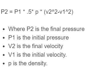 flow rate pressure formula