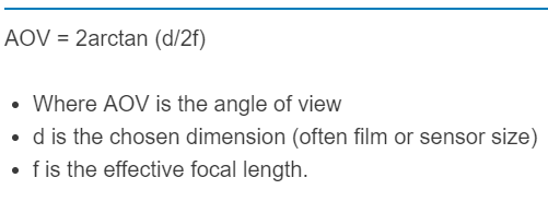 angle of view formula