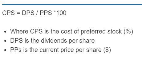 cost of preferred stock formula