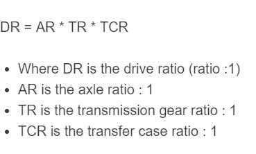 final drive ratio formula