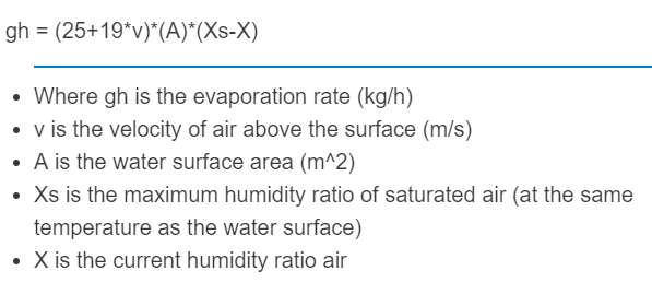 evaporation rate formula
