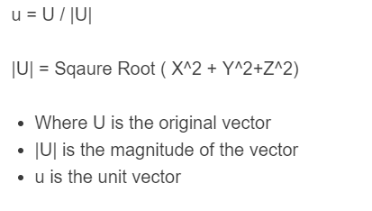 normalize vector formula