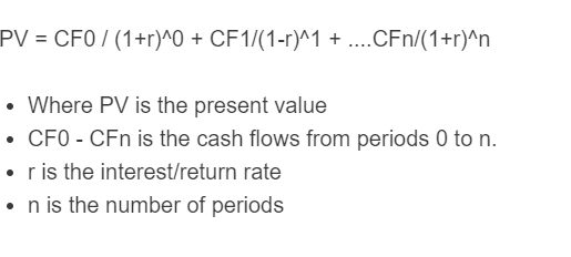 uneven cash flow formula