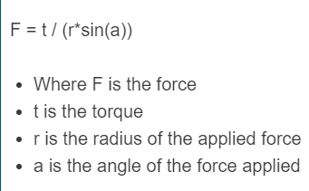 torque to force formula