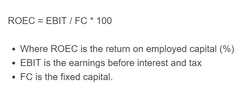 return on employed capital formula