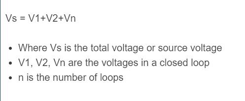 Kirchhoff's Voltage Law Formula