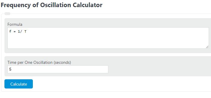 frequency of oscillation calculator