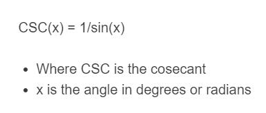 csc formula