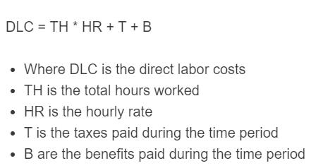 direct labor costs formula