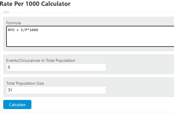 rate per 1000 calculator