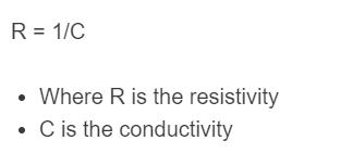 conductivity to resistivity formula