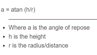 angle of repose formula