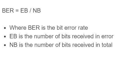 bit error rate formula