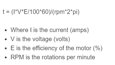 electric motor torque formula