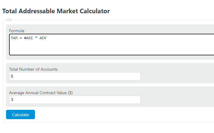 total addressable market calculator