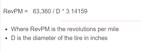 rev per mile formula