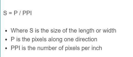 pixel to print size formula