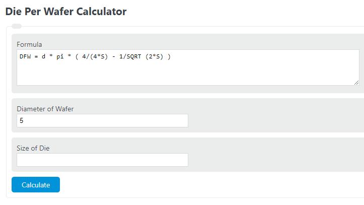 die per wafer calculator