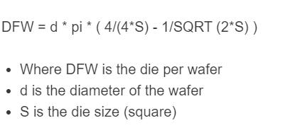 die per wafer formula