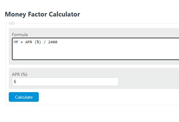 money factor calculator