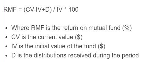 return on mutual fund formula