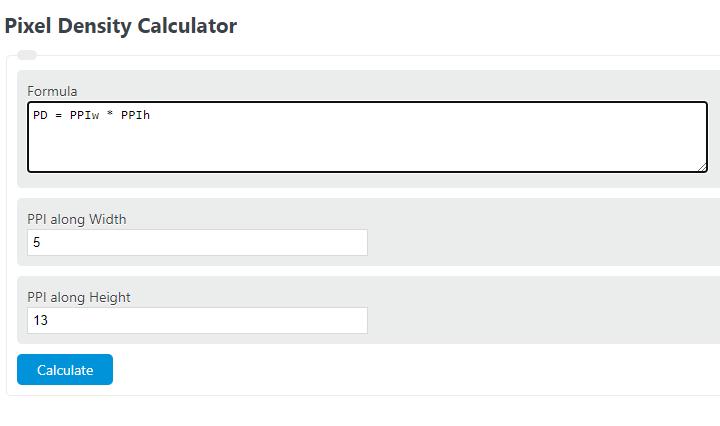 pixel density calculator