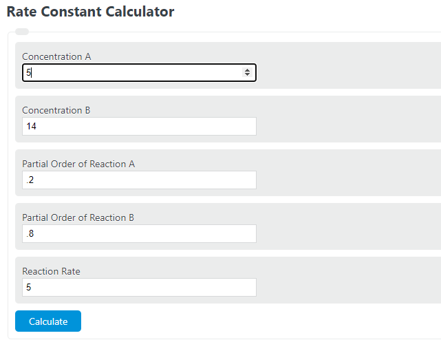 rate constant calculator