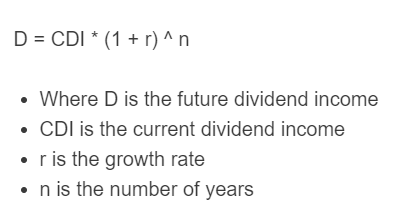 dividend growth formula