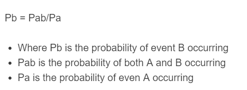 conditional probability formula
