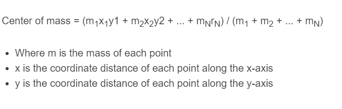 center of mass formula