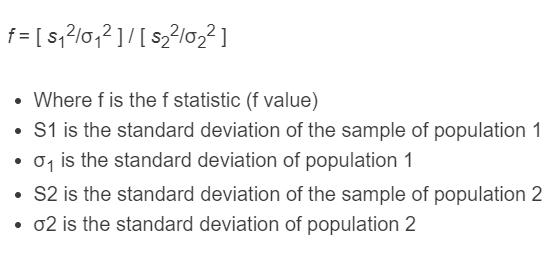 f statistic formula