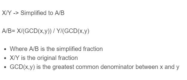 simplify fraction formula